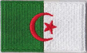 Algeria Embroidered Flag Patch, style 04
